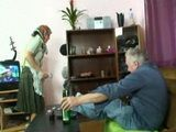 Grandpa Punishes Old Granny For Bitching Him All The Time About Booze