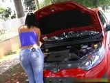 Big Ass Ebony Desperately Needed Cheap Car Repair And Filthy Friend Offer Her Help If She Fuck Him