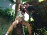 Terrified Bound To a Tree Kidnapped Teen Ai Mizushima Gets Violated and Fucked By her Kidnapper