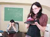 Sweet Schoolgirl Came To Wish A Happy Bday To Her Professor