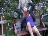 Poor Girl In Nylons Gets Strangled In The Park and Fucked By Maniac