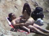 Voyeur Tapes Bootylicious Small Wife Fucking Her Big Hubby at The Beach