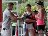 Boxing Coach Prepare Special Condition Training For Two Sexy Girls