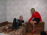 Mature Russian Blonde Mom Fuck Nerd Boy