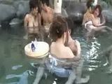 Group of Japanese have outdoor foreplay sex party