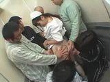 Japanese Nurse GangFucked In Hospital Elevator Fuck Fantasy