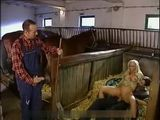 German Country Girl Fucked In Stable By Two Hard Studs