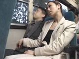 Girl Grope Guy In Bus Tekoki CFNM