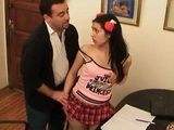 Naive Latina Coed Teen Schoolgirl Gets Fucked By Her Private Teacher