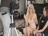 Two Glamour Model Beauties Having Epic Threesome With Photographer