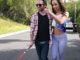 Sly Guy Pretends That He Is A Blind Man Just To Get Closer To This Hottie