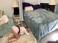 MILF Mom Gets Fucked While Stuck Under The Bed