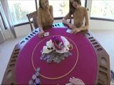 Poker Game Turns Into Strip Poker And Finally To Unplanned Threesome For Dillion Harper Sarah Luv