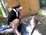 Naughty Nun Provides Assistance To Homeless