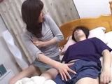 Japanese Mom Sneaks Into Husbands Cousin Bed