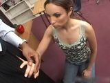 Cute Brunette Learn Something New In School How It Is To Feel BBC In Tight Asshole