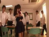 Japanese Teen Ruri Narumiya Gets Gangbanged In The Classroom