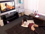 Japanese Girl Was So Into Watching Porn That She Never Heard Her Friend Enter
