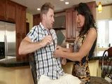Cougar Milf Mother Lezly Zen Swooped Hot Stepson In The Kitchen
