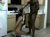 Great Amateur Interracial Kitchen Fuck