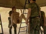 War Prisoner Woman Gets Tied Hanged and Roughly Fucked By Enemy Soldiers